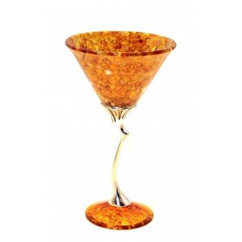 Бокал для мартини лето из янтаря