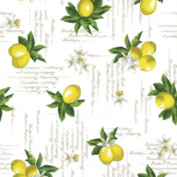 Клеенка столовая future 140 см, рулон 20 п.м., 404.1 лимоны