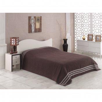Простыня махровая petek, размер 200х220 см, коричневый, 310 г/м2