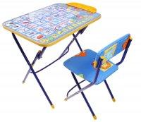 Набор детской мебели никки. азбука 2 складной, цвета стула микс