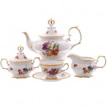 Чайный сервиз queens crown  мейсенский букет на 6 персон 15 предметов