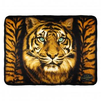Плед collorista тигр 130х170 см, 100% п/э флис, 180 гр/м2