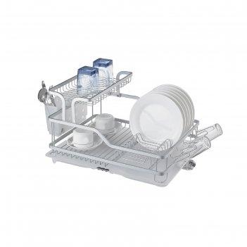Двухъярусная сушилка для посуды bianka, алюминий, 58 х 38 х 27 см