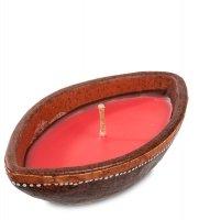 36-005 свеча в терракотовом подсвечнике овал (о.бали)