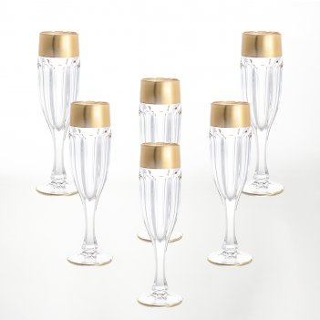 Набор фужеров для шампанского bohemia gold сафари gold 150 мл