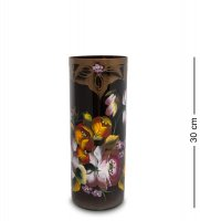Vz-572 ваза стеклянная жостово h-300/120 (цилиндр)