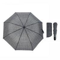 Зонт автоматический фактура, r=50см, цвет серый