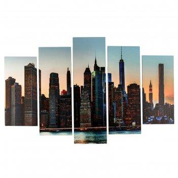 Модульная картина большой город (2-25х50, 2-25х67, 25х80см) 80х140 см