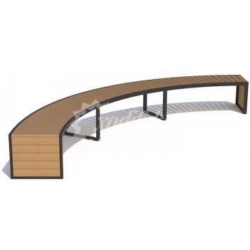 Скамейка радиусная «артек»