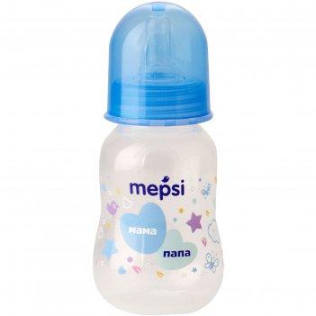 Бутылочка для кормления mepsi, с силиконовой соской, от 0 месяцев, цвет ми