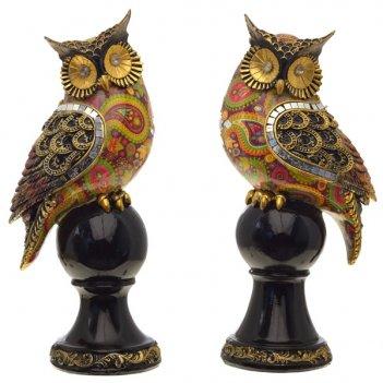 Фигурка декоративная сова, 11,5х9х26 см, 2 в.