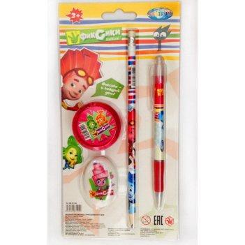 "Набор канцелярский ""фиксики"" (ручка 0.7 мм,карандаш простой нв.,"