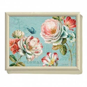 Creative tops поднос с подушкой romantic garden
