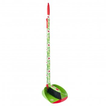Набор для уборки совок + щетка с ручкой ladybug
