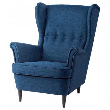 Кресло с подголовником страндмон, темно-синий