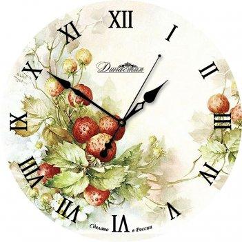 Настенные часы из стекла династия 01-018 ягоды
