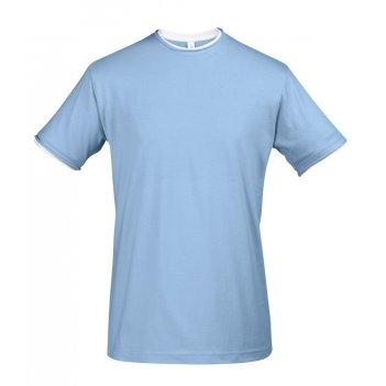 голубые футболки