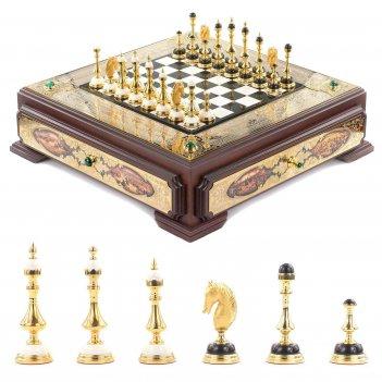 Шахматы баталия 570х550х155 мм 32000 гр.