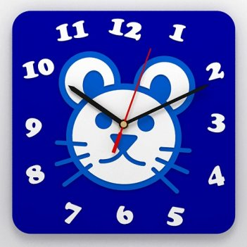 Часы детские настенные мышка