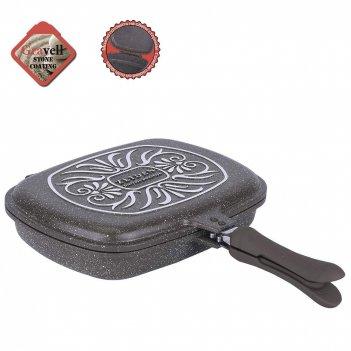 Сковорода-гриль двойная z-90178 36см.гран.покр.