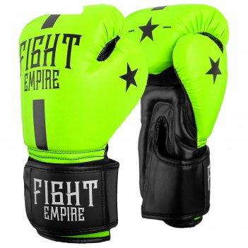 Перчатки боксерские, детские, 8 унций, цвет салатовый