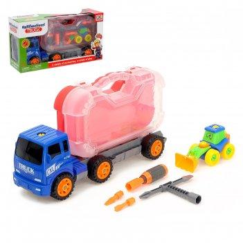 Конструктор винтовой грузовик, с инструментами +трактор