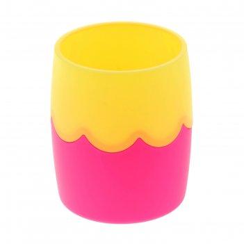 Стакан двухцветный розово-желтый сн502