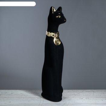 Копилка кот зеленые глаза, чёрный цвет, 42 см