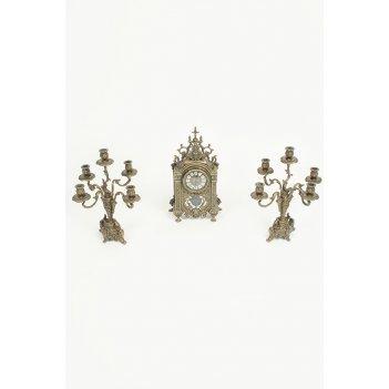 Набор часы (26х45 см) + 2 канделябра (36х42 см)