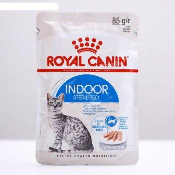 Влажный корм rc indoor для домашних кошек, паштет, пауч, 85 г