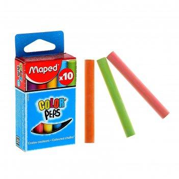 Мелки цветные maped color peps, в наборе 10 штук, круглые, специальная фор