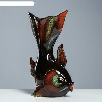Ваза золотая рыбка чёрная