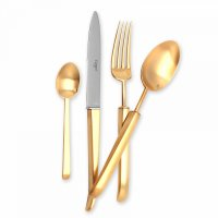 Набор столовых приборов на 6 персон carre gold, 24 предмета, материал: нер