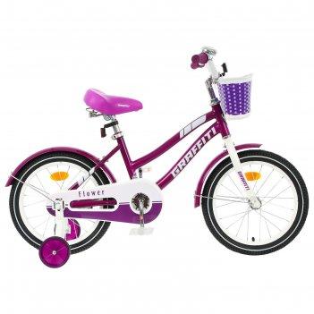 Велосипед 16 graffiti flower, цвет сиреневый/белый