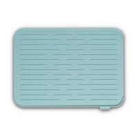 Коврик для сушки посуды, размер: 43,8 см, материал: силикон, цвет: мятный,