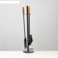 Каминный набор 31см: щётка, совок, кочерга