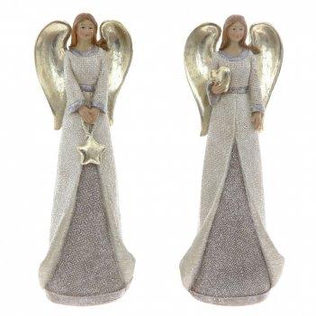Фигурка декоративная ангелочек, l8 w5 h23 см, 2в.