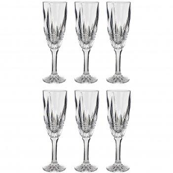 Набор из 2 бокалов для шампанского, 180 мл