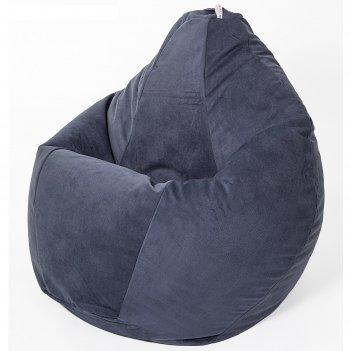 Кресло-мешок «груша» малая, диаметр 70 см, высота 90 см, черничный, велюр
