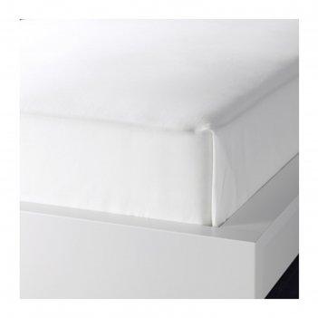 Простыня двала, размер 150х260 см, цвет белый