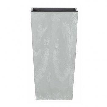 Кашпо для цветов prosperplast urbi square beton 49+21л, серый
