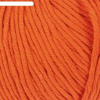 Пряжа baby cotton xl 50% хлопок, 50% полиакрил 105м/50гр (3419 апельсин)