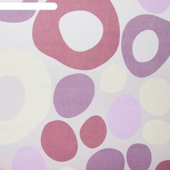 Тюль этель калейдоскоп (цвет лиловый) без утяжелителя, ширина 250 см, высо