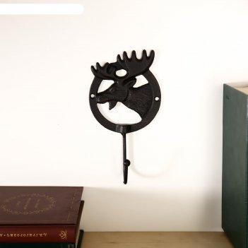 Крючок декоративный металл лось 18,5х10х5,5 см