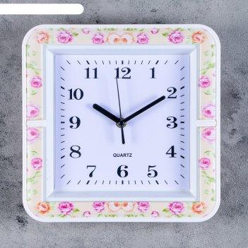 Часы настенные, серия: классика, шерил, 26х26 см, микс