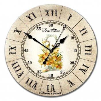 Настенные часы династия 02-016 нарцисс