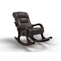 Кресло-качалка «родос», 1470 x 710 x 950 мм, экокожа, цвет венге