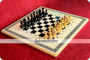Шахматы смешанные большие бук 60х60см