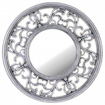 Зеркало настенное italian style 31 см цвет: серебро (кор=6шт.)