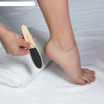 Тёрка для ног, наждачная, двусторонняя, 16,5 см, деревянная